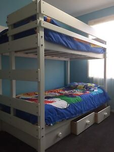 Single white Bunkers Bunks with 3 drawer storage Attwood Hume Area Preview