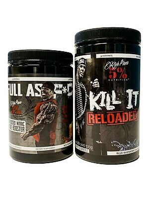 - Rich Piana 5% Nutrition KILL IT RELOADED Pre Workout + FULL AS F*CK Pump Stack