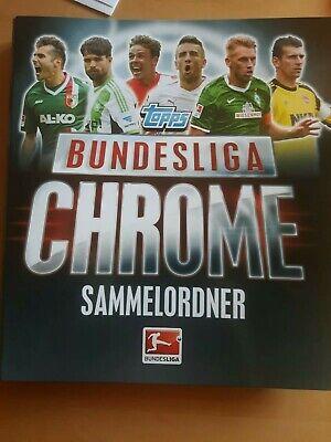 Topps Bundesliga Chrome 13/14 kompletter Sammelordner mit allen Karten.  (Fußball-karte Ordner)