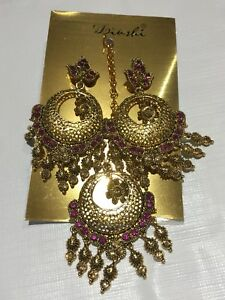 Earrings and Forehead decoration pendant
