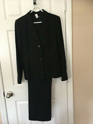 Womans Casual Corner Black Pant  Suit - Size 10