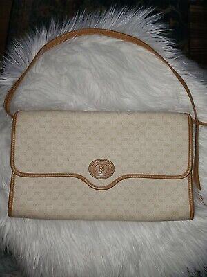 Vintage Gucci Purse Crossbody Bag In Micro GG Monogram. Tan/Beige