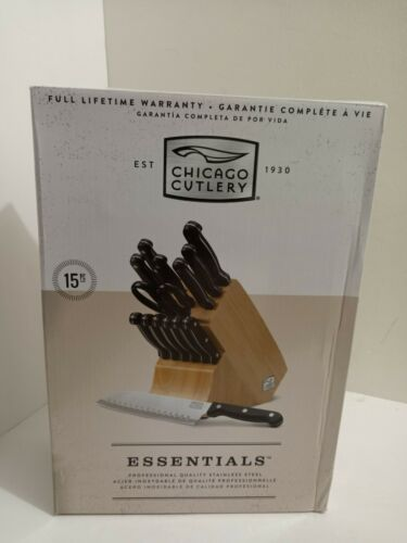 Chicago Cutlery Essentials 15 Piece Kitchen Knife Block Set