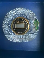 Waterford Crystal Small Standing Digital Clock Vintage circa 1980  New in Box