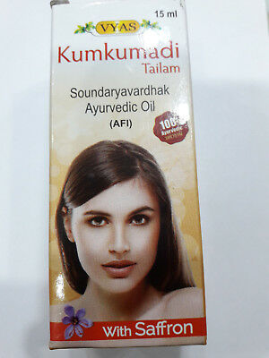 Kumkumadi Ayurvedic  Oil Tailam for Natural Complexion Promoter 24Herbs 15ml FS
