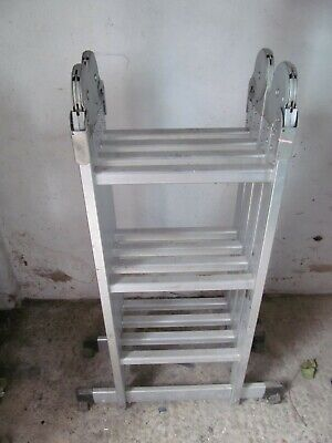 4x3 Multi Position Purpose Aluminum Foldable Ladder Collection SS4, Essex