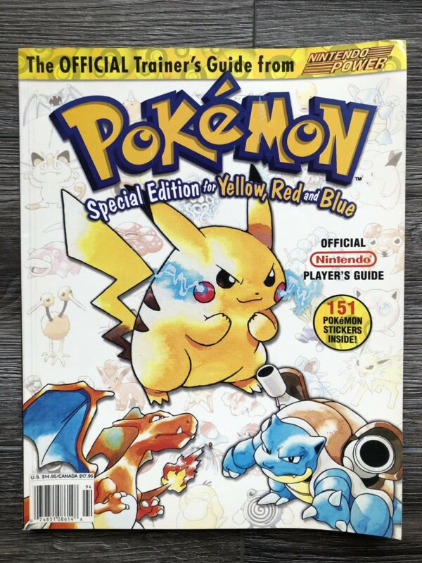 Pokemon Special Yellow Red Blue Nintendo Power Strategy Guide W/ Stickers