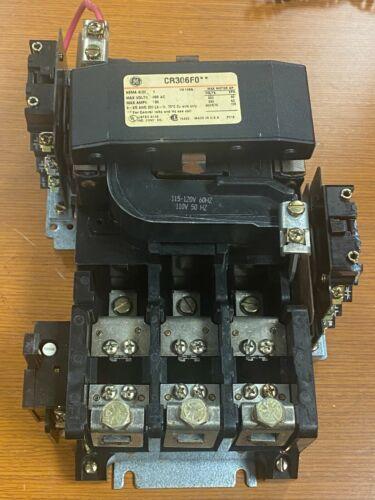 👀 GE GENERAL ELECTRIC SIZE 4 STARTER 115/120V COIL 600V 135A 100 HP CR306F0**