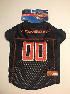 Pets First Collegiate Oklahoma State Mesh Dog Jersey Size M New