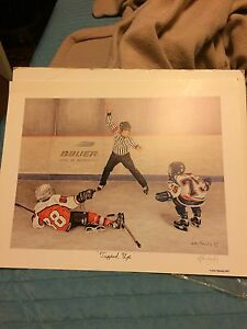 John Newby hockey kids print