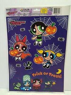 POWERPUFF GIRLS WINDOW CLINGS HALLOWEEN DECORATIONS 2001 cartoon network usa - Halloween Usa Network