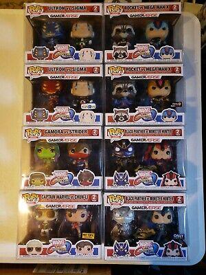 Funko Pop Marvel Vs Capcom Lot - Common & Toys R Us - 8 Total