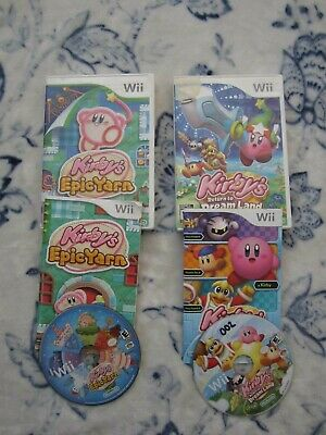 Lot of 2 Kirby's Return to Dream Land 2011 Epic Yarn 2010 Nintendo Wii Games