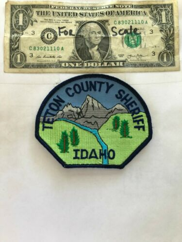 Teton County Sheriff Idaho Police Patch Un-sewn in great shape