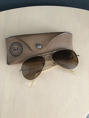 ray ban sunglasses aviator Gold Fram, Brown Prescription (Ray Ban Prescription Sunglasses)