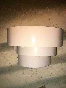 5 x White wall sconce
