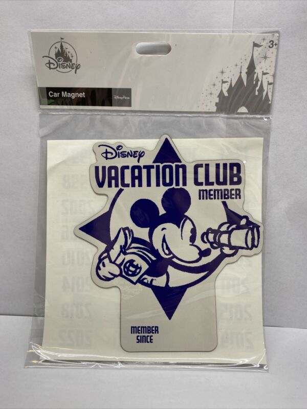 Disney Vacation Club Member Since Year Car Magnet Decal DVC Mickey Mouse - NEW