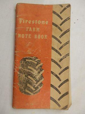 1951 Firestone Farm Book calendar erickson welding Fertile MN tires info notes