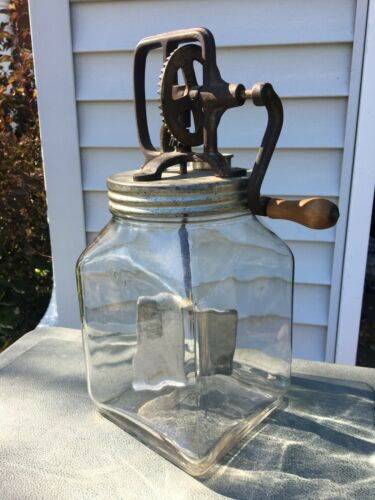 Vintage Butter Churn 4 qt. Glass Jar Kitchen Ware