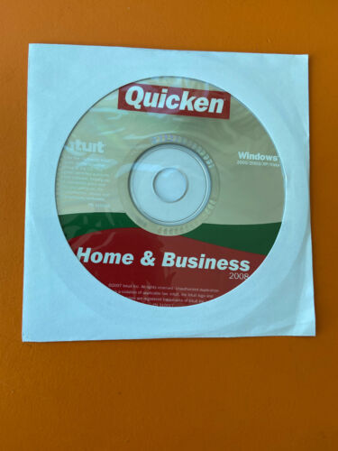 Intuit Quicken Home & Business 2008 For Windows NEW