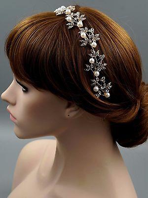 Bridal Jewelry Accessories Wedding Headpiece Crystal Headband Tiara 70 18K Gold