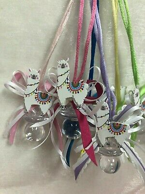 Party Favors For Baby Showers (Colorful Llama Pacifier Necklace for Baby Shower Cute Party Favors; 12)