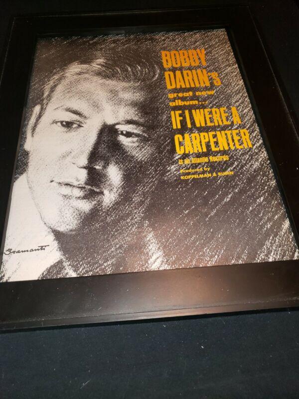 Bobby Darin If I Were A Carpenter Rare Original Promo Poster Ad Framed!