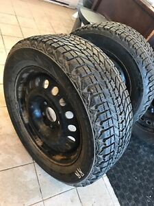 225/60R17 Firestone Winterforce on Steel Rims 9and10 32nds