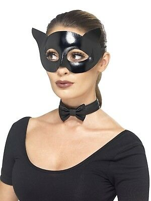 Adult Black Cat Mask and Collar Set Fancy Dress Book Day Costume Accessories Kit