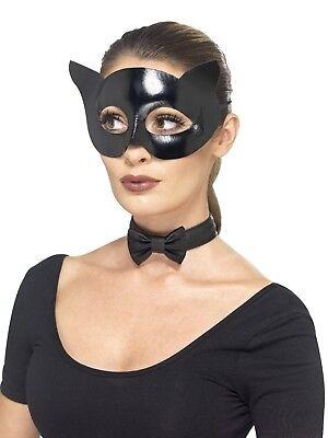 Erwachsene schwarz Katzenmaske und Kragen Set Kostüm büchertag Kostümzubehör