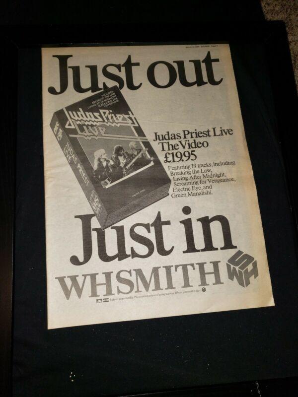 Judas Priest Live Rare Original U.K. Promo Poster Ad Framed!