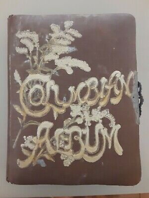 Antique COLUMBIAN EXPOSITION souvenir CELLULOID PHOTO ALBUM 20+ PHOTOS