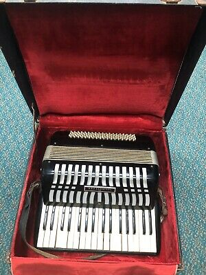 Wurlitzer Black Antique Accordion & Case Free Shipping