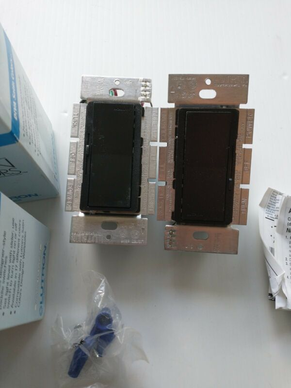 2 LUTRON - DVSC-603P-MN 600W 120V 3-WAY DIVA INCANDESCENT PRESET DIMMER BLACK