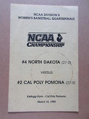 NCAA DIVISION II QUARTERFINALS North Dakota vs Cal Poly Pomona 1990