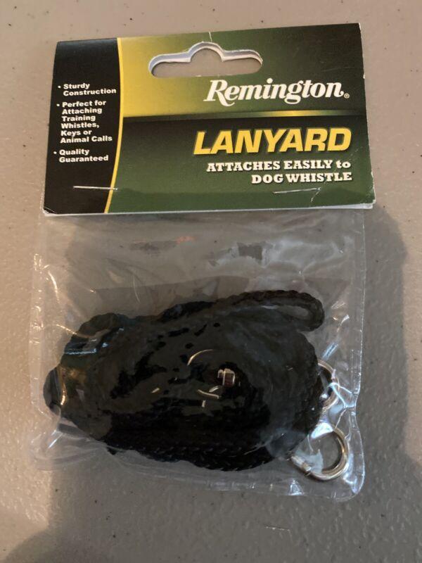 Remington Lanyard - Black Braided Nylon with Double Self Locking Hooks