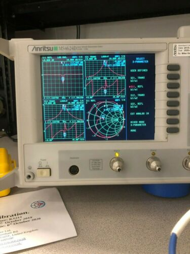 Anritsu MS4624D-2-5-8-10-11SF-13 Network Analyzer 10 MHz - 9 GHz--- Calibrated