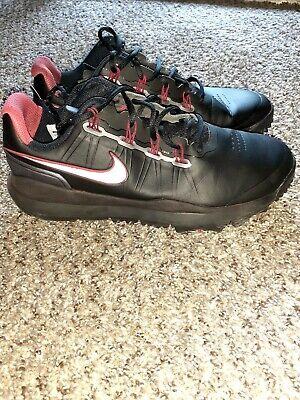 Nike Tiger Woods TW '14 Black Golf Shoes Size 9 READ DESCRIPTION