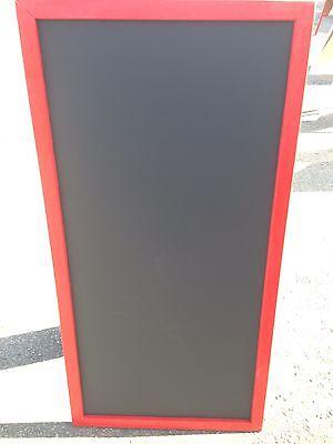 Sidewalk Announcement Black Chalkboard Easel Red 24 X 48 Hardwood Frame