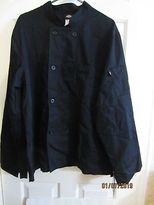 Dickies Chef Unisex Classic 8 Button Chef Coat Dc45 - Size Small - Black - Nwt
