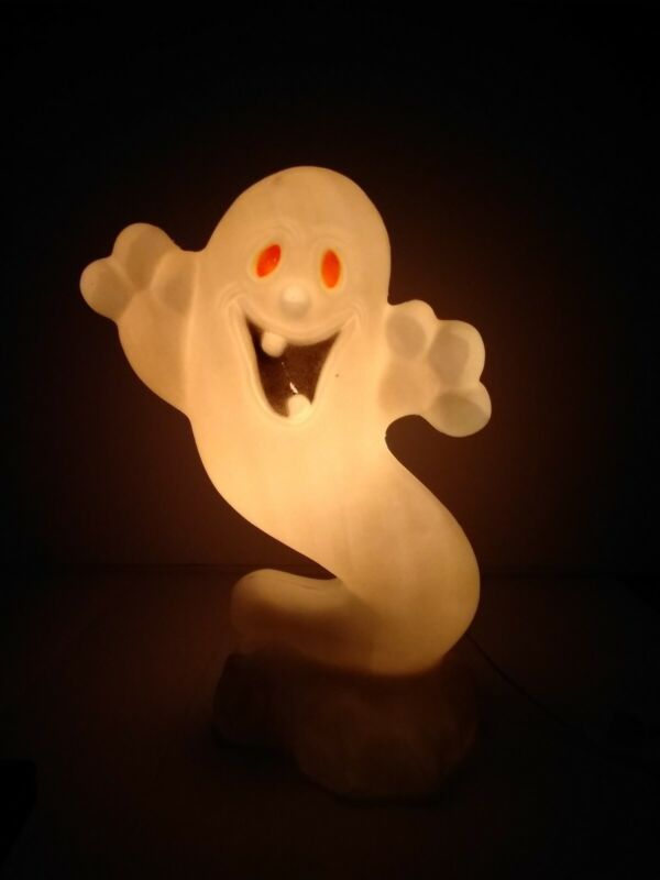 """Vintage Blowmold Boo-Ghost 21"""" Drainage Industries"""