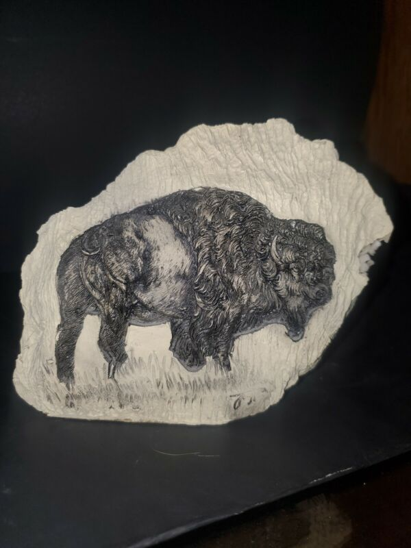 Bison/buffalo Carved Quartz Rock By Hills Creek Collection