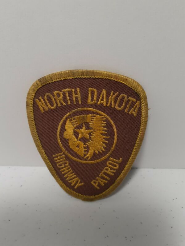 North Dakota Highway Patrol Mini Patch Star Logo Used Law Enforcement LQQK