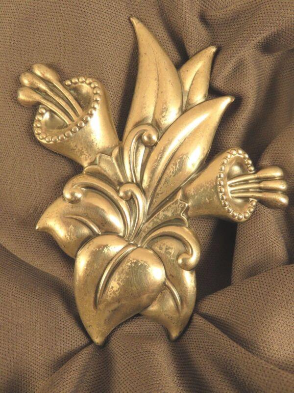 Fur Clip n Large Flower Form Sterling (577)