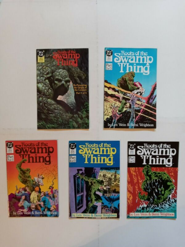 Roots Of The Swamp Thing Lot# 1-5  Complete Set Lot VF 8.0 WEIN & WRIGHTSON