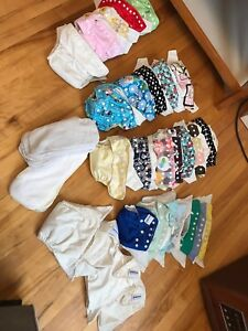 28 cloths diapers and liners - $100 OBO