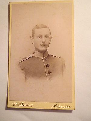 Hannover - Soldat in Uniform - Regiment Nr. 10 - Portrait / CDV