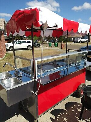 Mobile Hot Dog Cart Trailer Concession Food Vending Stand Kioskfree Shipping