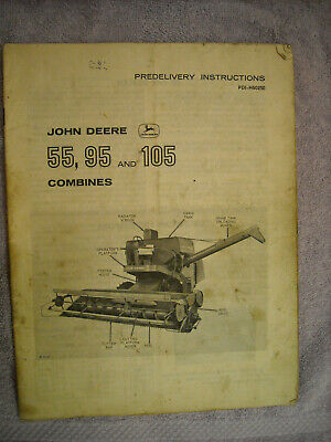 John Deere Predilivery Instructions 55 95 105 Combines Pdi-h60250 Issue