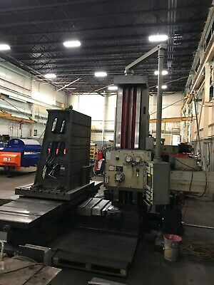 Used Wmw Union 4 Horizontal Boring Mill Bar Hbm Bmt-105 Manual With Readout
